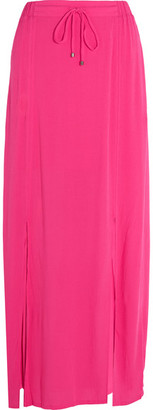 Splendid - Crinkled-gauze Maxi Skirt - Bright pink $130 thestylecure.com