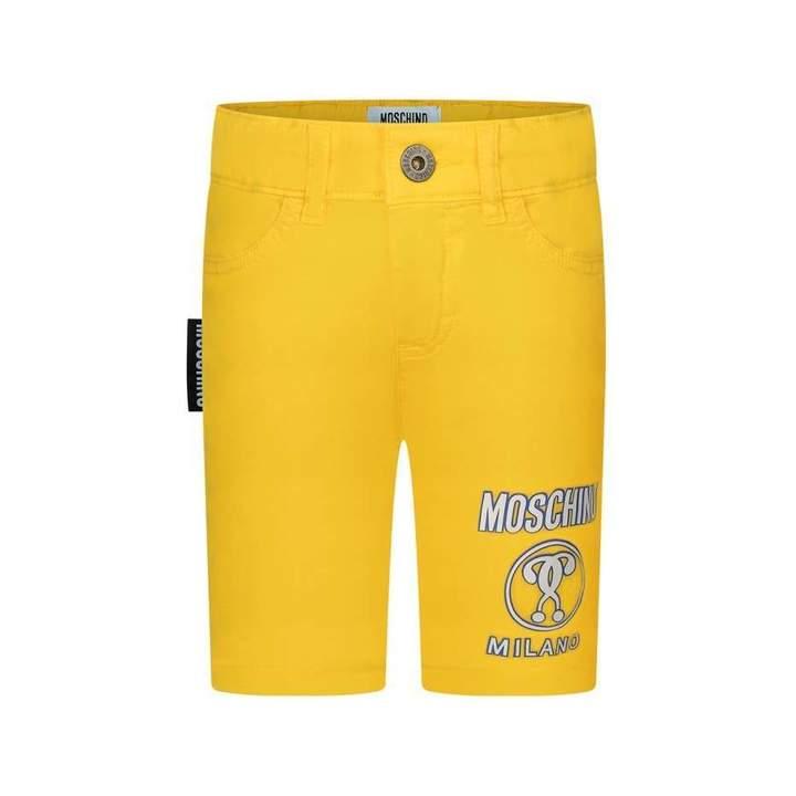 MoschinoBoys Yellow Milano Shorts