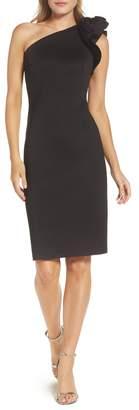 Eliza J One-Shoulder Sheath Cocktail Dress