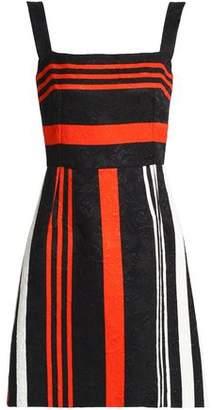 Dolce & Gabbana Striped Cotton-Blend Jacquard Mini Dress