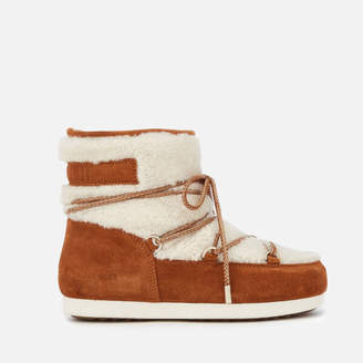 Moon Boot Women's Low Shearling Boots - Whiskey