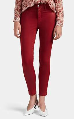L'Agence Women's Margot Coated Skinny Crop Jeans - Red