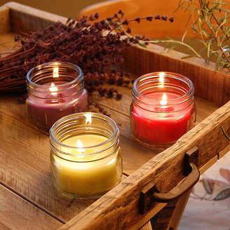 Asstd National Brand Scented Candles- Natural Fresh Collection in 3oz Glass Mason Jars (Set of 6)