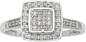 Sterling Silver 1/7-ct. Diamond Halo Ring