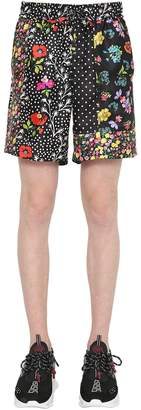 Versace Floral Printed Silk Twill Shorts