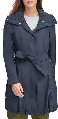 Andrew Marc Tie-Waist Bubble Trench Coat