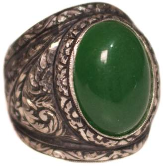 Express Falcon Jewelry Sterling silver men ring, steel pen craft handmade,Jade Natural gemstone, Shipping