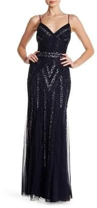 Marina Embellished V-Neck Gown