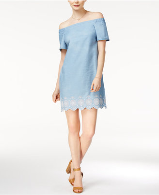 Maison Jules Embroidered Off-The-Shoulder Dress, Only at Macy's $79.50 thestylecure.com