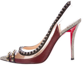 Christian Louboutin  Christian Louboutin Lizard Embellished Pumps