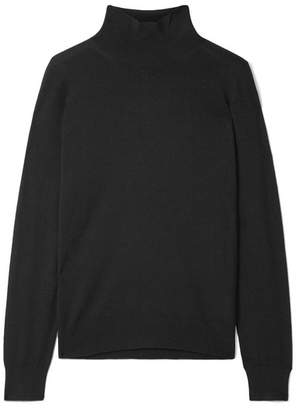 Burberry Intarsia Merino Wool Turtleneck Sweater - Black