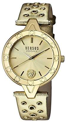 Versus By Versace Women's 'V Versus Eyelet' Quartz Gold and Leather Casual Watch