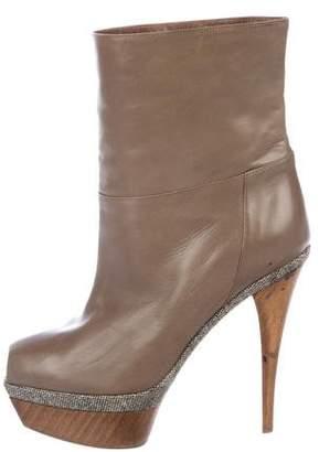 Marni Peep-Toe Platform Ankle Boots