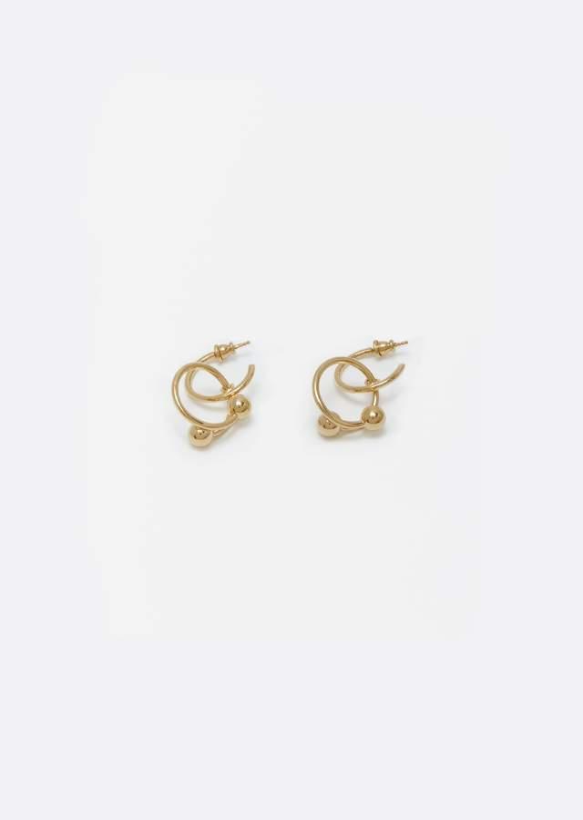 J.W.Anderson Pierce Couple Earrings Gold