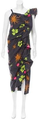 Isa Arfen Printed Midi Dress w/ Tags
