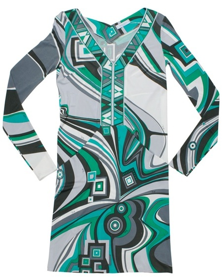 EMILIO PUCCI - Printed jersey deep V-neck dress