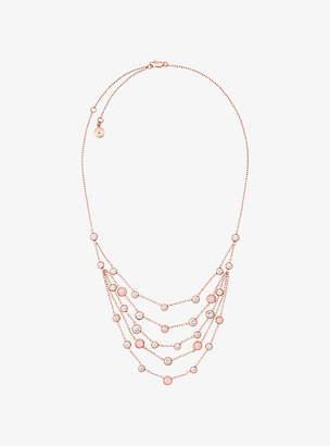 Michael Kors Rose Gold-Tone Multi-Strand Necklace