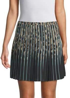 Roberto Cavalli Pleated Silk Skirt