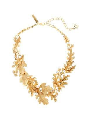 Oscar de la Renta Acorn and Leaf Necklace