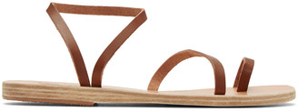 Ancient Greek Sandals Brown Apli Eleftheria Sandals $250 thestylecure.com