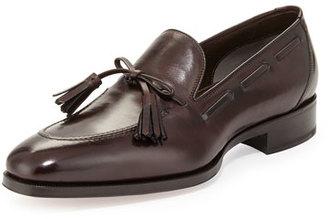 TOM FORD Austin Tassel-Tie Loafer, Brown $1,990 thestylecure.com