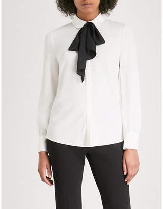 Claudie Pierlot Tie-detail crepe blouse