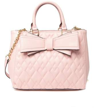 Betsey Johnson Diamond Quilted Satchel