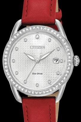 Citizen Red Leather Watch