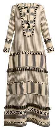 Dodo Bar Or - Samuelle Striped Cotton Dress - Womens - Black White