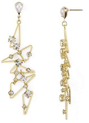RJ Graziano Studded Geometric Drop Earrings