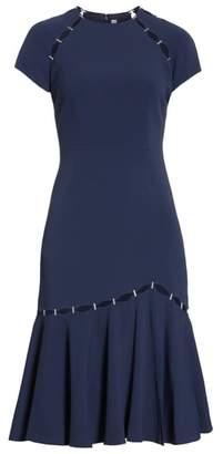 Jonathan Simkhai Stapled Crepe T-Shirt Dress