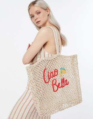 74434070d3 at Accessorize · Accessorize Ciao Bella Crochet Tote Bag