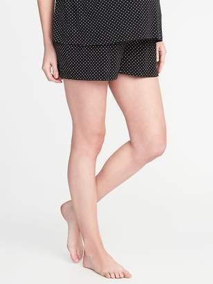 Old Navy Maternity Fold-Over Jersey Lounge Shorts