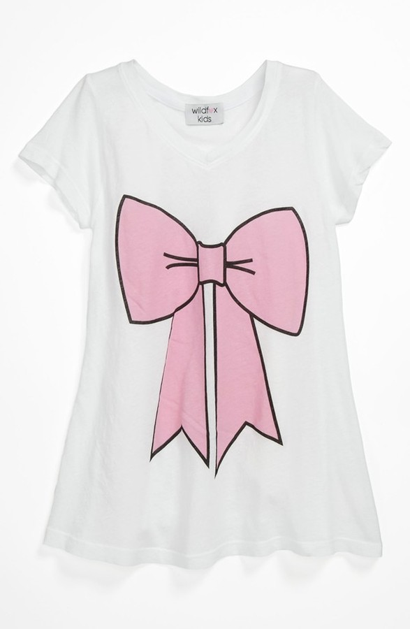 Wildfox Couture 'Pink Bow' Tee (Big Girls)