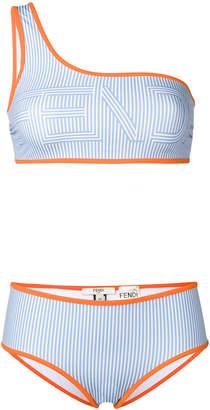 Fendi logo stripe bikini