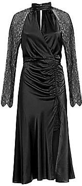 Jonathan Simkhai Women's Silk & Lace Keyhole Dress