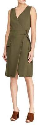 Polo Ralph Lauren Stretch Cady Wrap Dress