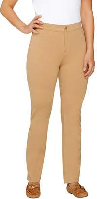 Isaac Mizrahi Live! Petite Ponte Knit Straight Pants
