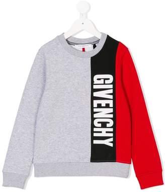 Givenchy Kids logo stripe sweatshirt