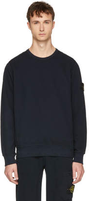 Stone Island Navy Arm Badge Sweatshirt