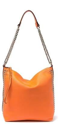 Persaman New York Dolores Leather Studded Shoulder Bag