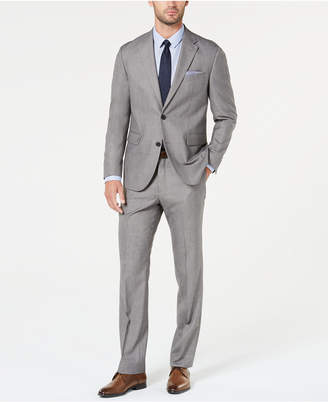 Dockers Men Classic-Fit Light Gray Sharkskin Suit