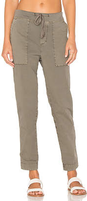 James Perse Tapered Pull On Pant in Taupe $225 thestylecure.com