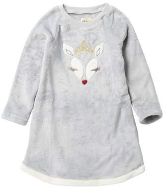 Petit Lem Reindeer Fleece Nightgown (Toddler & Little Girls)