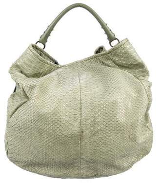 Pre Owned At Therealreal Sergio Rossi Cutout Leather Hobo
