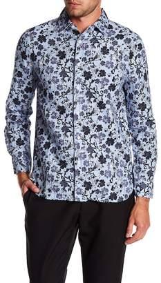 Raffi Floral Long Sleeve Linen Shirt