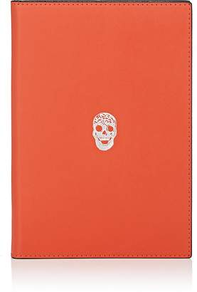Connor Skull-Motif Leather Notebook