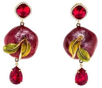 Dolce & Gabbana Crystal Apple Drop Earrings