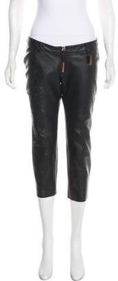 Thomas Wylde Leather High-Rise Pants