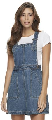 Juniors' Candie's® Denim Pinafore Dress $48 thestylecure.com